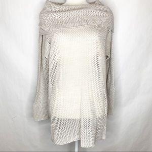 Soft Surroundings Open Knit Cowl Neck Tunic